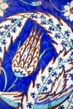 Iznik płytki w Rustem Pas meczecie, Istanbuł Obraz Stock