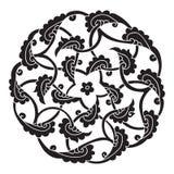 Iznik style pentagram design stock illustration