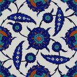 Iznik tile pattern Stock Image