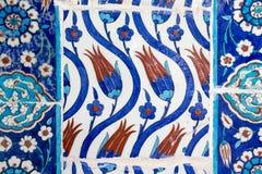 Iznik tiles in Rustem Pasa Mosque, Istanbul Stock Photos