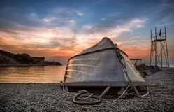 Izola,slovenia,europe. Sunset at izola, slovenia,europe royalty free stock photos