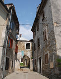 Izola Street, Slovenia Royalty Free Stock Photography