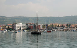 Izola Waterfront, Slovenia Stock Photo