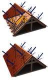 izolacja dach ilustracji