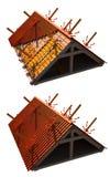 izolacja dach ilustracja wektor