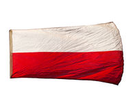 Izolated Polish flag the wind Stock Images