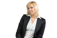 Izolated portrait of business lady Stock Photography