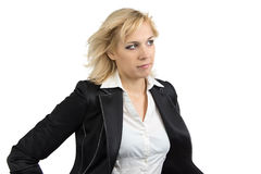 Izolated portrait of business woman Stock Photos
