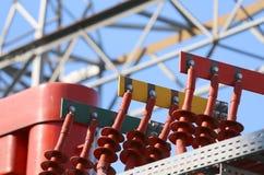 Izolatory elektrownia z zasilanie elektryczne przekazem Lin Fotografia Royalty Free