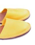 izolaty bieli boot żółty Fotografia Stock