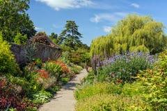 Izolujący ogród, Croft kasztel, Herefordshire, Anglia obrazy stock