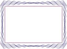 Izolujący ramowy tło szablon dla świadectwa Zdjęcia Royalty Free