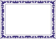 Izolujący ramowy tło szablon dla świadectwa Zdjęcie Stock