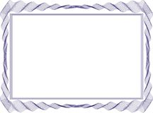 Izolujący ramowy tło szablon dla świadectwa Fotografia Royalty Free