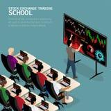 Izometric handlowa szkoła ilustracja wektor