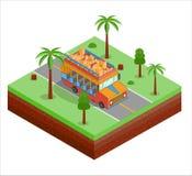 Izometryczny Chiva tipical autobus od południowego America royalty ilustracja