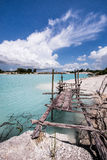 Izquierda de la tubería del caolín, isla 2 de Belitung Fotografía de archivo