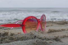izquierda en la playa Fotografía de archivo libre de regalías