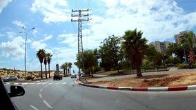 Izrael Ashdod, Wrzesień, -, 2018 Materiał filmowy wystawia ulicy Ashdod po środku politycznych lato wyborów zdjęcie wideo
