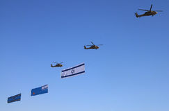 Izrael dnia 60st niezależny pokaz lotniczy Zdjęcia Stock