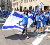 Izrael dnia parada 2015 Fotografia Royalty Free