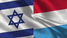 Izrael i Luksemburg flaga - Dwa flaga Wpólnie zdjęcia stock