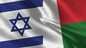 Izrael i Madagascar flaga - Dwa flaga Wpólnie obrazy stock