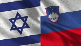 Izrael i Slovenia flaga - Dwa flaga Wpólnie zdjęcie stock