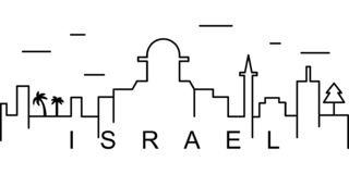 Izrael konturu ikona Może używać dla sieci, logo, mobilny app, UI, UX royalty ilustracja