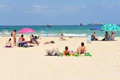 Izrael morza śródziemnomorskiego linia brzegowa Obrazy Stock