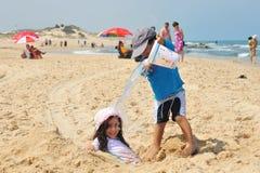 Izrael morza śródziemnomorskiego linia brzegowa Obrazy Royalty Free