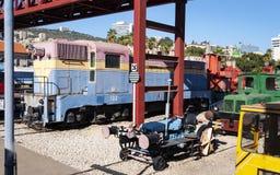 Izrael pociągu muzeum w Haifa w Północnym Izrael obrazy royalty free
