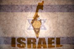 Izrael rocznika mapa obrazy stock