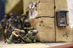 Izraeli soldiers. In Gaza Palestine - plastic model 1:72 scale - extremely closeup Stock Photo