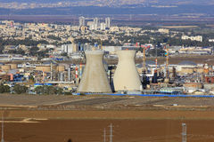 Izraelicka rafineria ropy naftowej w Haifa, Izrael Fotografia Royalty Free