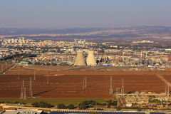 Izraelicka rafineria ropy naftowej w Haifa, Izrael Zdjęcie Royalty Free