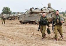 Izraelicki IDF zbiornik - Merkava fotografia stock