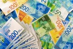 Izraelickie pieniądze notatki fotografia stock