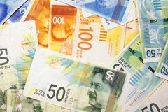 Izraelickie pieniądze notatki zdjęcie royalty free