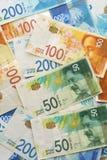 Izraelickie pieniądze notatki zdjęcia royalty free