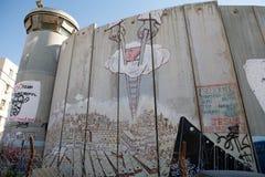 Izraelita Zachodniego banka bariera  Fotografia Stock