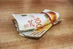 izraelski pieniądze  fotografia royalty free