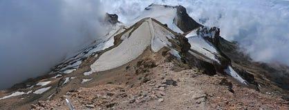 Iztaccihuatl - panoramautsikt från toppmötet! , Mexico fotografering för bildbyråer