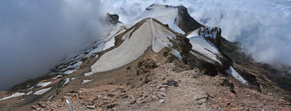 Iztaccihuatl - Panoramic view from the summit!, Mexico Stock Image
