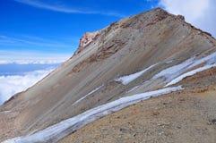 Iztaccihuatl sista toppmöte Ridge, Mexico royaltyfri fotografi