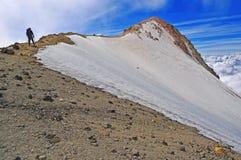 Iztaccihuatl sista toppmöte Ridge, Mexico fotografering för bildbyråer