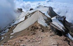 Iztaccihuatl toppmöte Ridge, Mexico fotografering för bildbyråer