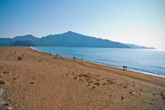 Iztuzu beach. Famous touristic attraction and travel destination, also known as turtle beach because of special loggerhead(Careta Careta) turtles that resides Stock Photos