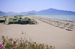 Iztuzu Beach, Dalyan. Iztuzu Beach,Dalyan Special Environmental Protection Area is a protected natural reserve in the Turkish province of Mugla Stock Photo