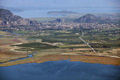 Iztuzu beach and delta of Dalyan river Stock Photos
